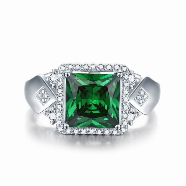 Lab-Created Emerald Ring
